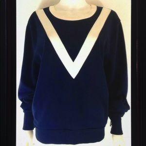 J Crew Varsity Color Block Crew Neck Sweatshirt